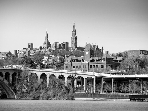 Washington D.C.: Georgetown, from Roosevelt Island